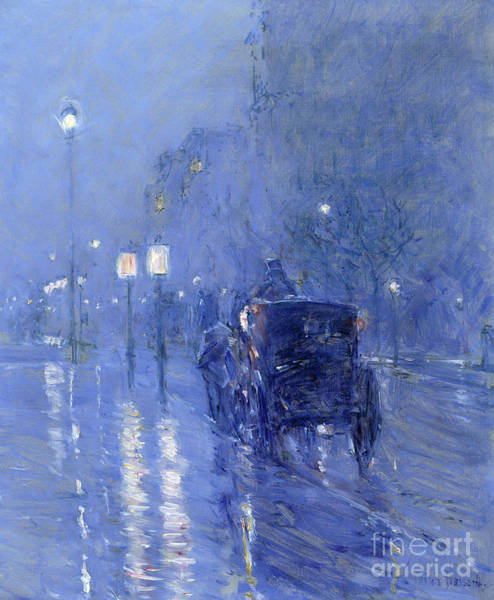 Wall Art - Painting - Rainy Midnight, Late 1890s  by Childe Hassam