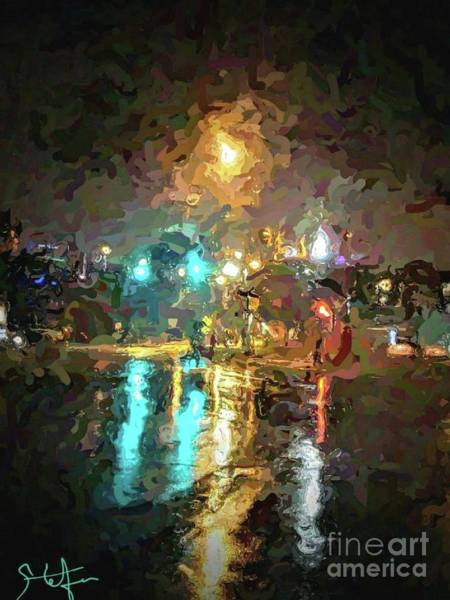 Painting - Rainy Night In Charlotte by Stefan Duncan