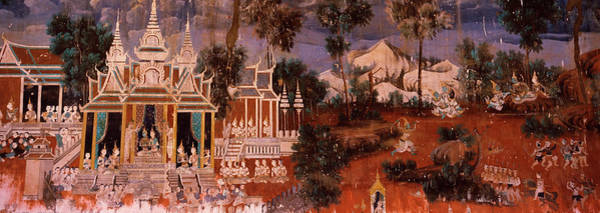 Phnom Penh Photograph - Ramayana Murals In A Palace, Royal by Panoramic Images