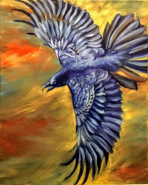 Wall Art - Painting - Raven by Elizabeth Bartolomeo