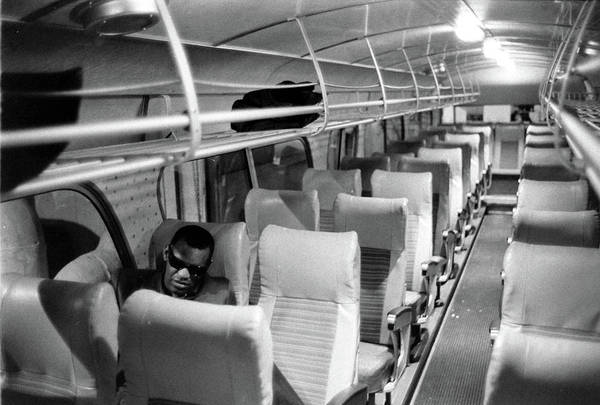 Photograph - Ray Charles On His Tour Bus by Bill Ray