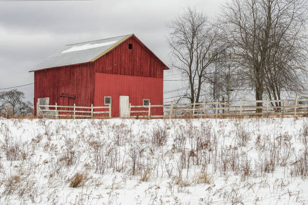 Photograph - Red Barn by Rod Best