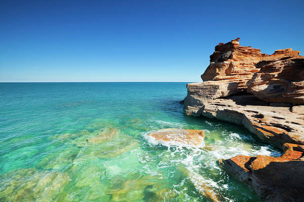 Broome Photograph - Red Coastal Cliffs At Gantheaume Point by Sara winter