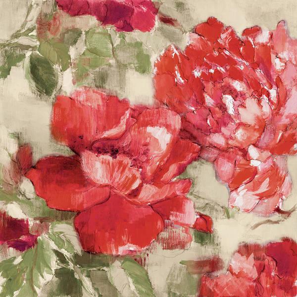 Wall Art - Painting - Red Modern Peonies II by Lanie Loreth