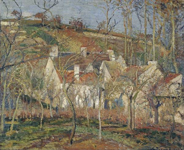 Wall Art - Painting - Red Roofs, Corner Of A Village, Winter, 1877 by Camille Pissarro