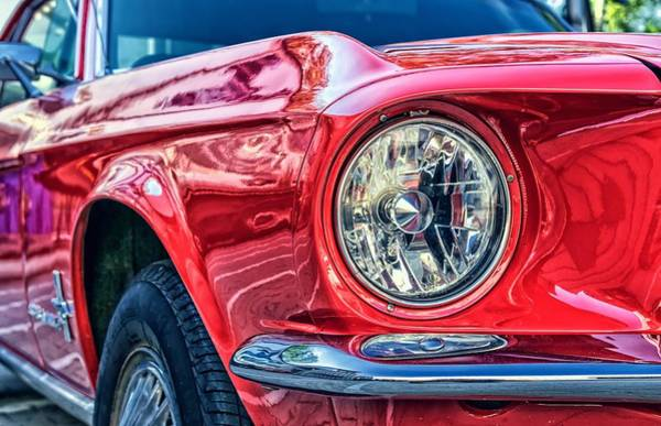 Photograph - Red Vintage Car by Top Wallpapers
