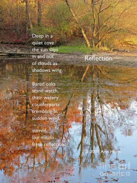 Photograph - Reflection by Ann Horn