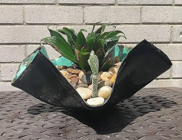 Ceramic Art - Reimagined Office Garden by Mario MJ Perron