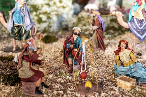 Photograph - Religious Figures Of Nativity Scene At Christmas. by Joaquin Corbalan