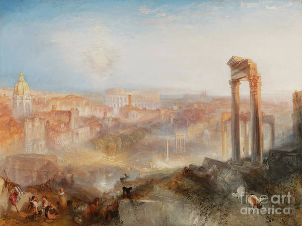 Photograph - Remastered Art Modern Rome Camp Vaccino By Jmw Turner 20190310 by Wingsdomain Art and Photography