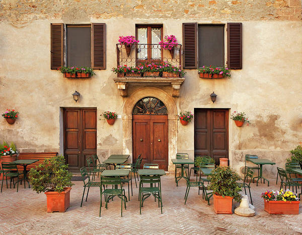 Town Square Wall Art - Photograph - Restaurant Tables In Italy by Mammuth