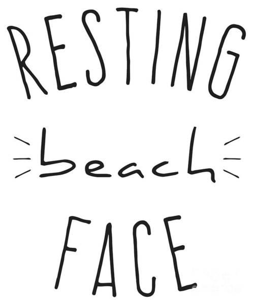 Digital Art - Resting Beach Face by Flippin Sweet Gear