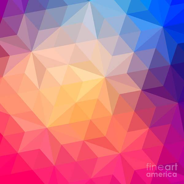 Wall Art - Digital Art - Retro Pattern Of Geometric Shapes by Markovka
