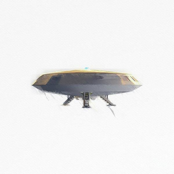 Wall Art - Painting - Retro Ufo by Raphael Terra