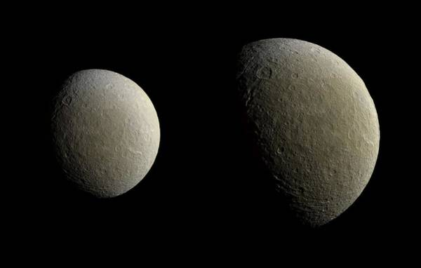 Wall Art - Painting - Rhea, Nasa by Celestial Images
