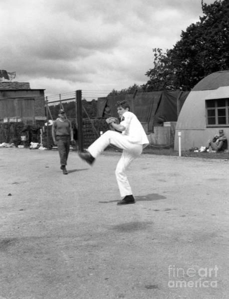 Photograph - Richard Gere - Pitching A Baseball On Set Of Yanks by Doc Braham