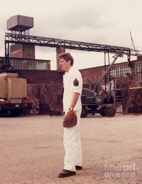 Photograph - Richard Gere - Playing Baseball On Set Of Yanks by Doc Braham