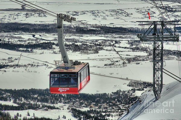 Photograph - Jackson Tram Rising Above Teton Village by Adam Jewell