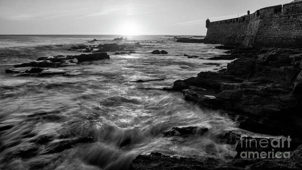 Photograph - Rising Tide Saint Sebastian Castle Cadiz Spain by Pablo Avanzini