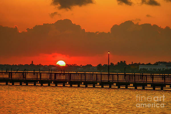 Photograph - River Sunrise by Tom Claud