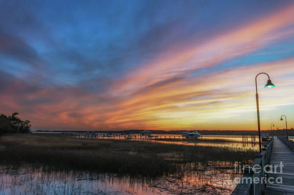 Photograph - Rivertowne On The Wando - Sunset Sky by Dale Powell