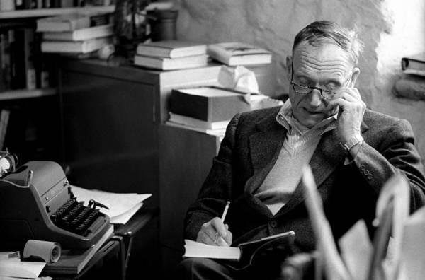 Fairfield Photograph - Robert Penn Warren At Home by I C Rapoport