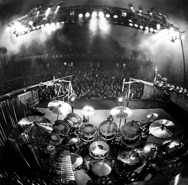 Fish Eye Lens Photograph - Rock Concert by Fin Costello