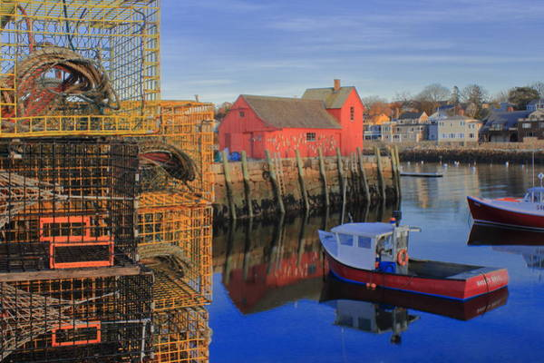 Wall Art - Photograph - Rockport Harbor Motif And Lobster Traps by John Burk