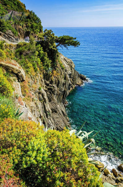 Wall Art - Photograph - Rocky Coastline Along The Via by Russ Bishop