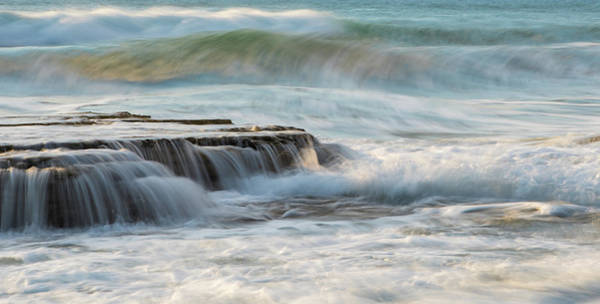 Outdoor Wall Art - Photograph - Rocky Seashore With Wavy Ocean And Waves Crashing On The Rocks  by Michalakis Ppalis