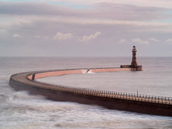 Sunderland Wall Art - Photograph - Roker Pier And Lighthouse, Sunderland by Jason Friend Photography Ltd