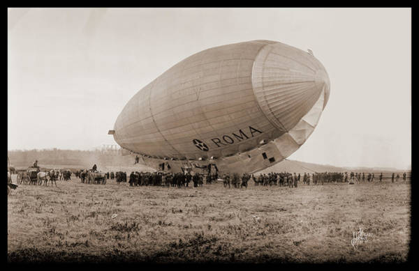 Wall Art - Photograph - Roma Dirigible At Bolling Field Air by Fred Schutz Collection