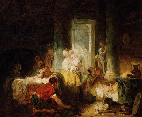 Wall Art - Painting - Roman Interior by Jean-Honore Fragonard