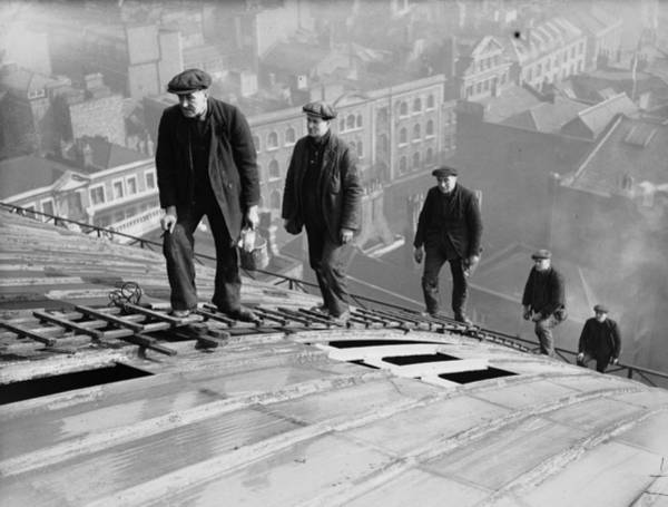 Ladders Photograph - Roofers by Harry Todd