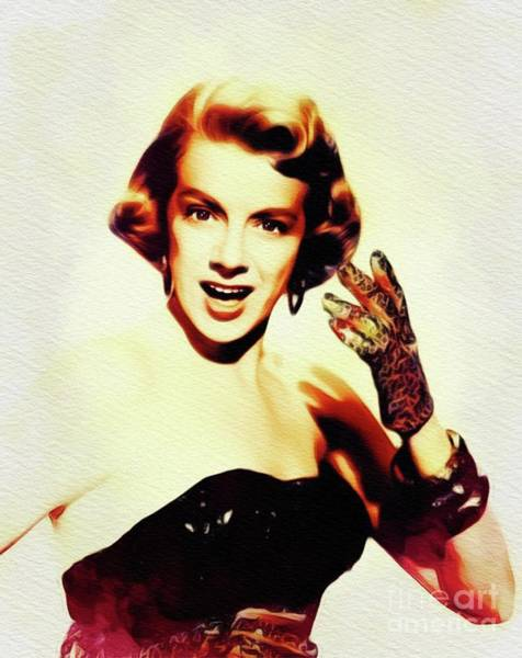 Rosemary Painting - Rosemary Clooney, Singer And Actress by John Springfield