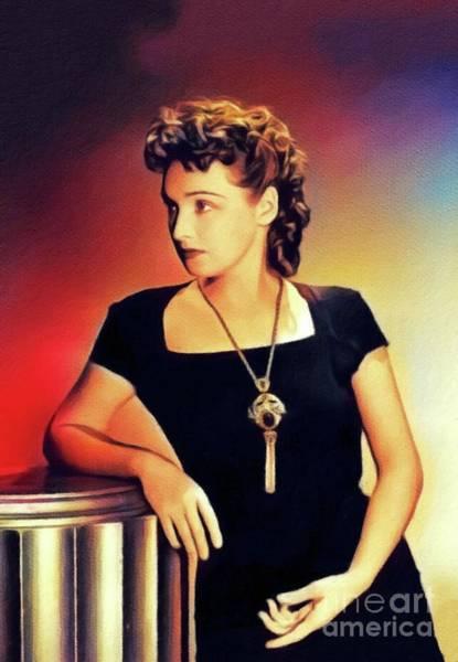 Rosemary Painting - Rosemary Lane, Vintage Actress by John Springfield