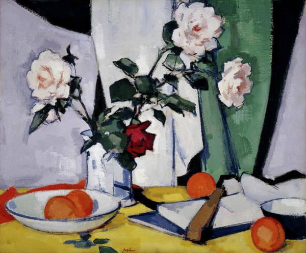 Perennial Painting - Roses by Samuel John Peploe