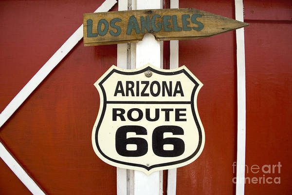 Photograph - Route 66 Sign by Carol Highsmith