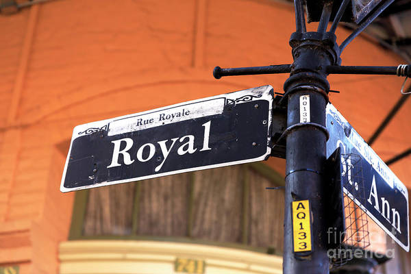 Wall Art - Photograph - Royal And St. Ann New Orleans by John Rizzuto