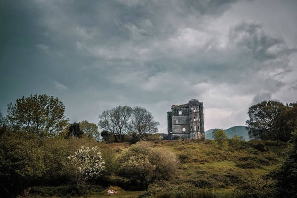 Wall Art - Photograph - Ruins Of Glenbeigh Tower Castle In Ireland by Jon Ingall