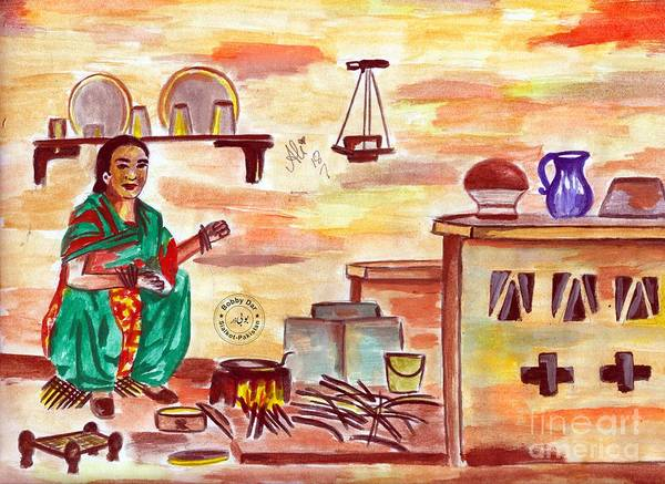 Bbc Painting - Rural Kitchen by Bobby Dar