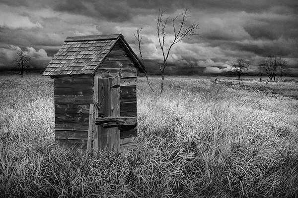Wall Art - Photograph - Rural Outhouse Langishing In The Countryside by Randall Nyhof