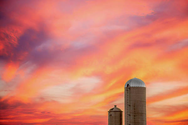Silo Photograph - Rural Skies by Todd Klassy