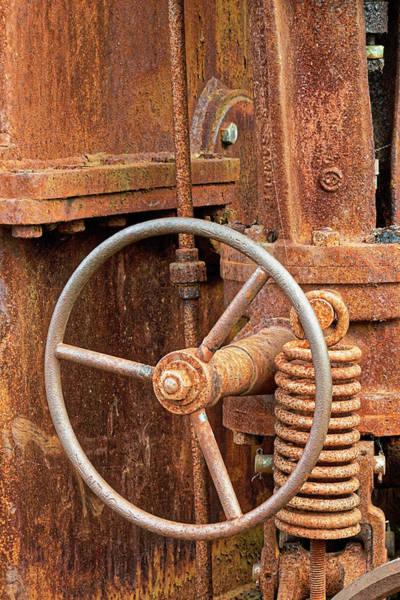 Astoria Photograph - Rusted Antique Equipment, Columbia by Adam Jones