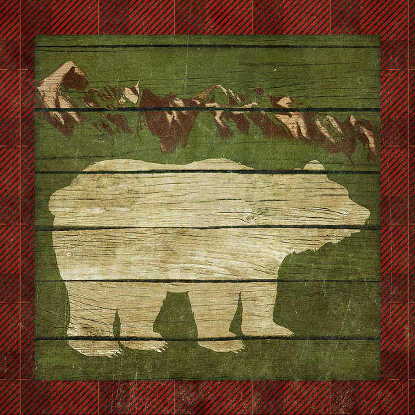 Wall Art - Painting - Rustic Nature On Plaid I by Andi Metz