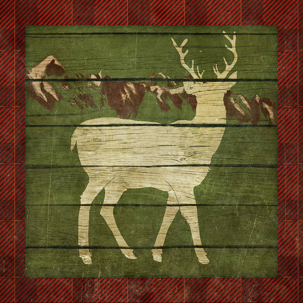 Wall Art - Painting - Rustic Nature On Plaid II by Andi Metz