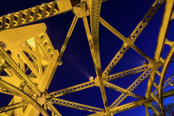 Photograph - Sacramento Tower Bridge - 3 by Jonathan Hansen