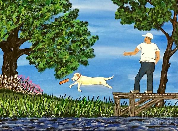Wall Art - Painting - Sadie The Dock Dog  by Jeffrey Koss