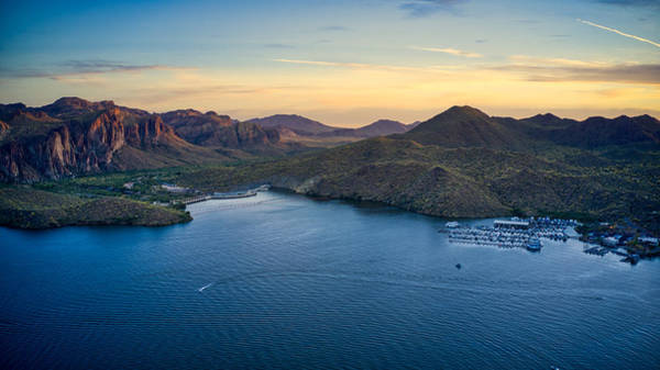 Photograph - Saguaro Lake Sunset Views by Ants Drone Photography