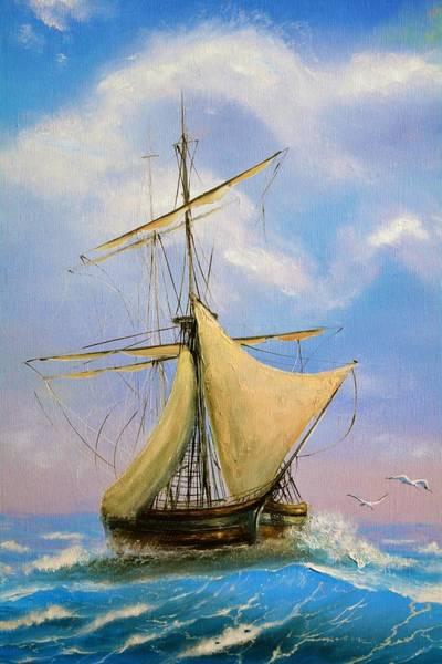 Wall Art - Painting - Sailing Ship by ArtMarketJapan
